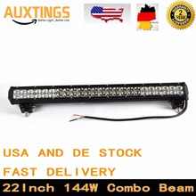 "USA DE Stock Free Tax IP67 22"" inch 144W combo led light bar 12 volt led truck lights ip67 off road wotk light bar for car"