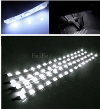 4pcs Waterproof 12V 30cm 60cm 90cm 120cm  White LED Car Truck Motors Flexible Strip Light