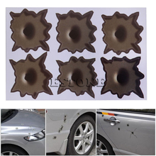 Cool Bullet Hole Gun Shot Type Sticker Funny Decal For Car Laptop Window Mirror