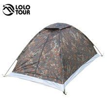 Outdoor Tents Camping Equipment Camouflage Ultralight Awning Tent Beach Hunting Military Army Barraca Roof Tenta 2 People