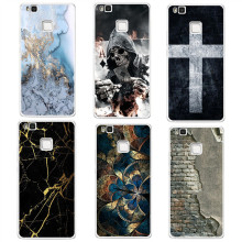 Marble wall cross case coque For Huawei P8 P9 P10 Lite 2017 Case Back cover