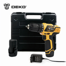 DEKO DZ222 10.8V DC New Design Household Lithium-Ion Battery Cordless Drill/Driver Power Tools Electric Drill Set w/ BMC