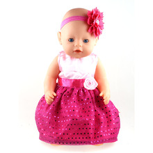43cm Zapf Baby Born Doll Clothes All kinds of style clothes children Christmas gift free shipping the doll m2839