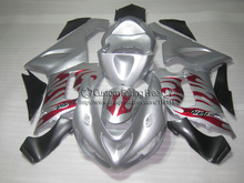 Injection new motorcycle parts for Kawasaki ZX-6R 05 06 fairings ninja 636 zx6r 2005 2006 red flames in silver fairing kit ZA80(China)