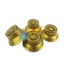 NEW 4pcs Gold Left Handed Top Hat Guitar Speed Control Knobs 0-10dB for LP Style Guitar