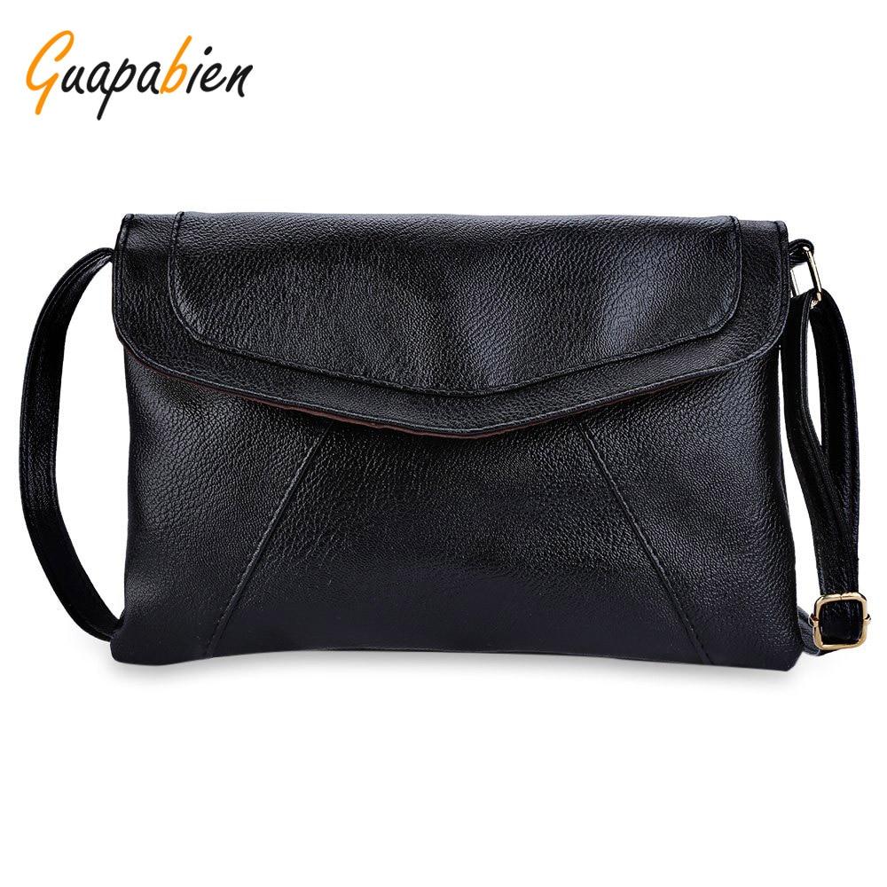Guapabien 8 Candy Color Women Shoulder Messenger Envelope Bag Small Causal Leather Girl Handbags Purses Sling Light Soft Bag<br><br>Aliexpress