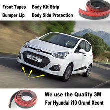 Car Bumper Lips For Hyundai i10 Grand Xcent Inokom For Dodge i 10 / Body Kit Strip / Front Tapes Body Chassis Side Protection