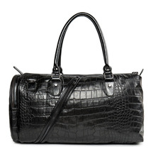 Waterproof Crocodile patter Large Leather luggage travel bags Totes bag men travel bags duffle portable shoulder bags