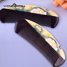 2017 wholesale small gift comb  lacquer art hand-painted customizable hair massage combs Boxwood+Sandalwood wooden combs Y032