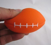 8.5*5.5 pu foam material  soccer  stress  ball,pu rugby anti stress ball,rugby  toy,soccer squeeze ball,relax ball