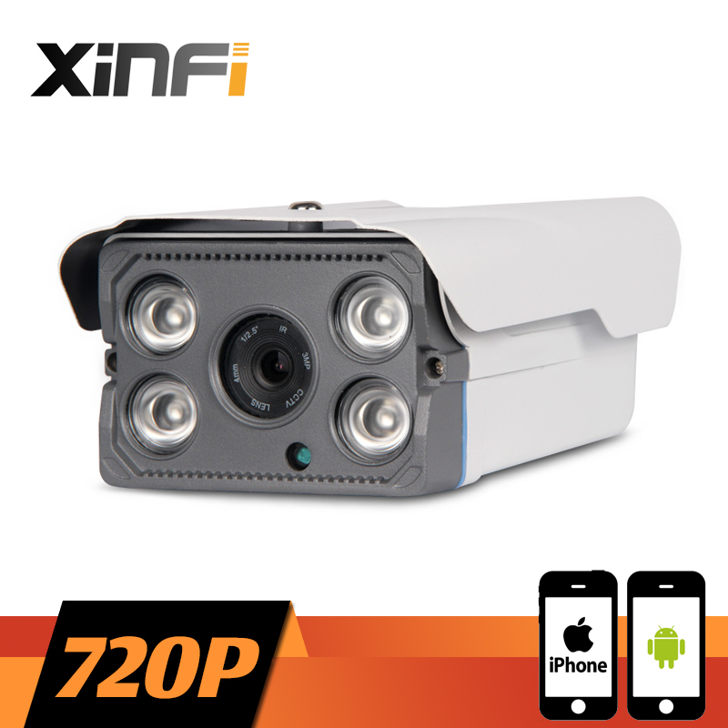XINFI 1280*720P CCTV IP camera night vision Outdoor Waterproof network P2P HD CCTV camera 1.0 MP ONVIF 2.0 PC&amp;Phone remote view<br>
