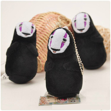 Hot Cute 10cm Spirited Away Pendant Faceless Man Black No Face Gost Plush Collectible Anime Character Chain Bag Toys Doll Gifts