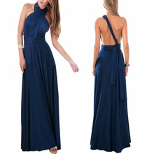 AOWOFS Women Sexy Convertible Multi Way Wrap Maxi Dress Bridesmaid Formal Party Long Dresses