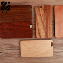 Amazing U&I Custom Blank Walnut Wood Cell Phone Case Wooden Laser Engrave Cover Capa for iPhone 8 8plus 5 5S 6 6S 6PLUS 7 7PLUS(China)