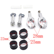 BRUSH HAND GUARD HANDGUARDS CLAMP MOUNTING MOUNT KIT FOR 22MM 28MM HANDLEBAR Motorcycle PRO TAPER Harley MX ATV Snowmobile