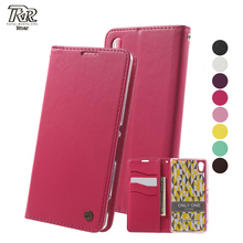 Roar Korea for Sony M4 Aqua Phone Case Only One Series PU Leather Flip Wallet Stand Cover for Sony Xperia M5 E5603 E5606 E5653(China)