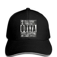 Los hombres de moda recta Outta Steeler nación Silver Glitter imprimir  sombrero de Color negro( 9cea9090c4c