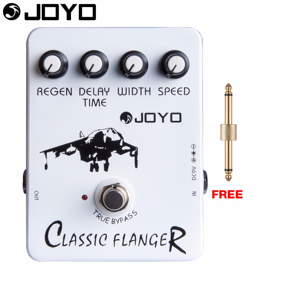 JOYO Classic Flanger Electric Guitar Effect Pedal Metallic Flange Sounds True Bypass JF-07 with Free Connector<br>