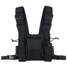 Abbree Radio Chest Harness Chest Front Pack Pouch Holster Vest Rig Carry Cade for Baofeng TYT Wouxun Motorola Walkie Talkie(China)