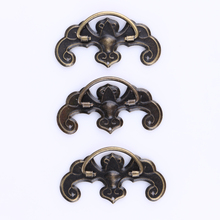 20pcs/set Vintage Furniture Cabinet Handles Knobs Bronze Tone Pattern Drawer Cabinet Desk Door Pull Handle Knob Hardware