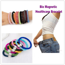 Fashion Bio Magnetic Healthcare Bracelet Weight Loss Bracelet Slimming Healthy Stimulating Acupoints Stud Bracelet(China)