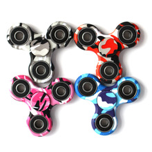 Fidget Hand Toy Finger Spinner Steel Bearing Pocket Desk Focus ADHD Stress  camouflage / glow / LED light
