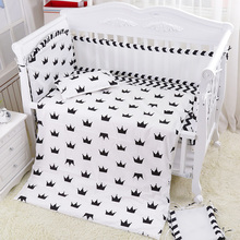 Summer Baby Bedding Complete Set Boys Girls Baby Bed Bedclothes Include Air Mesh Bumpers Bed Sheet Summer Quilt Pillow +Filling