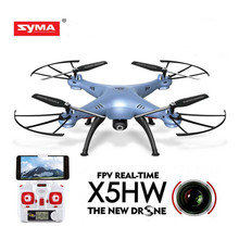 SYMA X5HW Mini Drone with Camera HD Wifi FPV RC Helicopter Elfie Remote Control Quadcopter 2.4GHz 4CH 30W Dron Aircraft Toy(China)