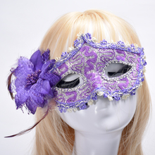 Upper for Party half face Mask Masquerade Hallowmas Venetian Masks Sexy Women Flower Half-face Masks Eyemask Cosplay
