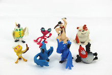 Christmas Free Shipping Cartoon Movie Rio 2 Jewel Blu Nico Nigel PVC Action Figure Model Toys Dolls for Children Gifts 8pcs/set