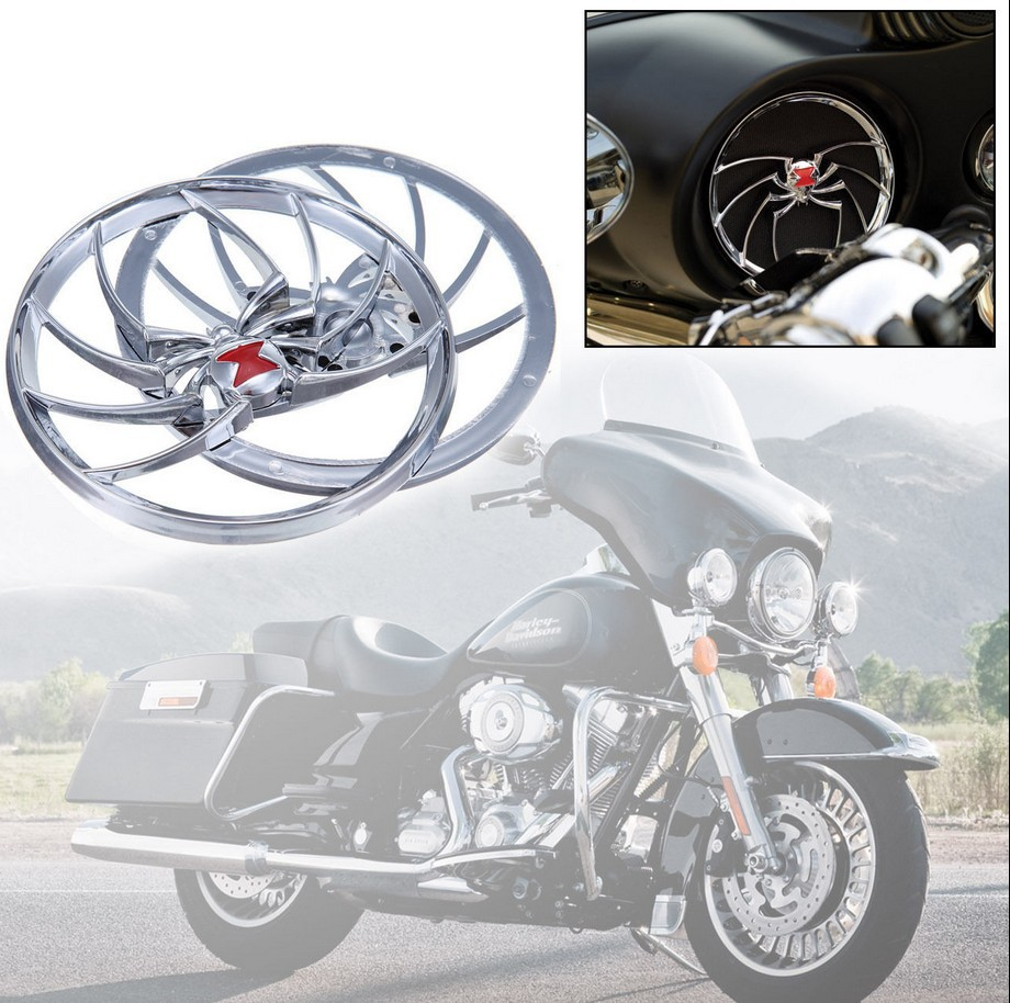 scooter parts/ Spider Speaker Grill Cover For Harley Davidson Electra Street Glide FLHT FLHX /free shipping<br><br>Aliexpress