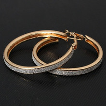 ES114 Big Hoop Earrings Hyperbole Party Fashion Jewelry Earring American & European Style Brincos Bijoux High Quality 2017 NEW