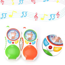 New 1Pc Child Baby press button music sound Educational Toy Gift Baby kids Cell Phone Gift