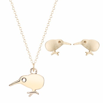 Kinitial Cute Earrings DNA Kiwi Choker Necklaces For Women Animal Style Necklace&Pendants High Bridal Jewelry Set A&A Jewelry