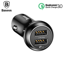 Buy Baseus Quick Charge 3.0 Car Charger Universal Dual 2 Port QC3.0 Fast Charge USB Car Mobile Phone Charger iPhone X 8 7 6 6s for $8.66 in AliExpress store