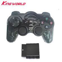 2pcs 2.4G Wireless Game Controller joystick Gamepad for playstation 2 For Sony for Ps2 (special edition) without vibration(China)