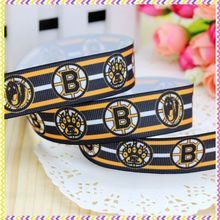 7/8'' Free shipping sport team printed grosgrain ribbon headwear hair bow diy party decoration wholesale OEM 22mm B533(China)