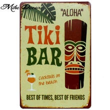 [ Mike86 ] TIKI BAR ALOHA Metal Poster Room Decor Retro Wall Craft Tin Sign For Room 20*30 CM Mix Items AA-893