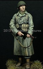 1/16 scale WW2 US submachine gun soldier WWII Resin Model Kit Model Free Shipping