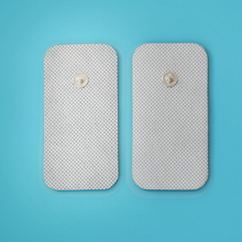 40pcs/lot(20pair) 4*8CM Electrode Pads for Tens EMS Unit with adhesive reusable electrode therapy Tens Snap pad(China)