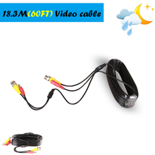 BNC cable 60ft Power video Plug and Play Cable for CCTV camera system