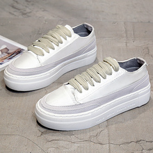 Sneakers women platform shoes 2018 new style silk synthetic superstar shoes woman sewing sapato feminino size 4-7(China)