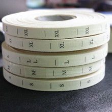 1000pcs High Quality Beige Cotton Size Labels Washable Soft Cotton Labels Tags for Baby Clothing Free Shipping(China)