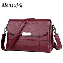 2018 Soft Crossbody Bags For Women Pu Leather Handbags Designer Women Shoulder Bags High Quality Solid Women Messenger Bags(China)
