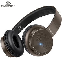 Sound Intone Bluetooth Wireless Headphones With Mic Support TF Card Over-ear Bass Headsets For Apple iPhone Android PC iPods MP3(China)