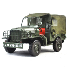 Creative Design Classic World War II Military Jeep Iron Metal Model Handmade Collecting Gifts Desktop Home Decoration(China)