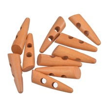 Hoomall 30PCs 2 Holes Wood Sewing Horn Toggle Buttons Cloth Accessories 5x1.3cm Craft And Scrapbooking(China)
