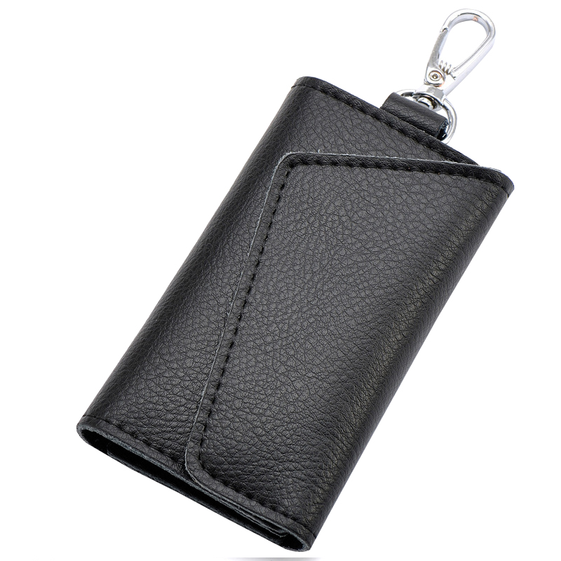 Fashion Designer Cow Leather  Wallets Famous Brand Women/Men Wallet 6 Ring Pouch Key Chain Holder<br><br>Aliexpress
