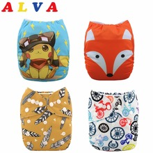 U Pick 1pc Alvababy One Size Fits All Cloth Diaper Washable Baby Nappy Reusable Cloth Nappy with Microfiber Insert