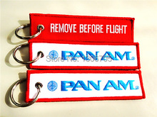 Pan Am American airline Luggage Tag Keychain